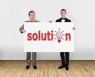 Placard with solution Royalty Free Stock Images