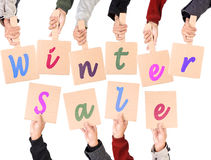 Placard stating Winter Sale Stock Images