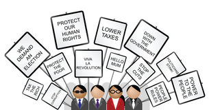 Placards against the government Royalty Free Stock Image