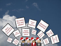 Placards with a Christmas Royalty Free Stock Images