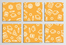 Placards, Posters. Back to school background. Branding template Stock Photography