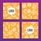 Placards or Posters with back to school pattern. Back to school. Branding background Royalty Free Stock Photos