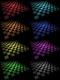 Placas Checkered Imagens de Stock
