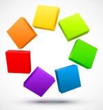 Placas coloridas 3D Imagem de Stock