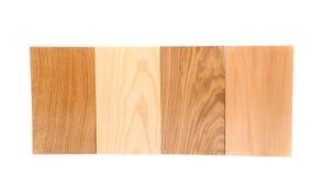 Placas da parte superior quatro (carvalho, eim, acácia, cal) Imagens de Stock
