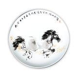 Placas da porcelana foto de stock