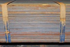 Placas de aço foto de stock