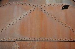 Placas de acero clavadas oxidadas Fotos de archivo