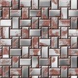 Placas de acero oxidadas Defensa del hierro Fondo inconsútil de la textura de la armadura Fotografía de archivo