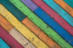 placas de assoalho de madeira Multi-coloridas Foto de Stock Royalty Free