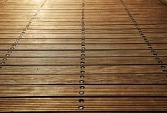 Placas de assoalho do cais de madeira de Zoutkamp fotografia de stock royalty free