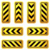 Placas de calle 07 del peligro y de la precaución Fotos de archivo libres de regalías