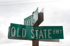 Placas de calle en el condado de Placer fotos de archivo libres de regalías