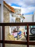 Placas de calle en Povoacao Velha foto de archivo libre de regalías