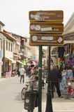 Placas de calle griegas Fotografía de archivo