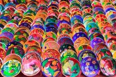 Placas de cerámica de la arcilla de México colorido imagen de archivo