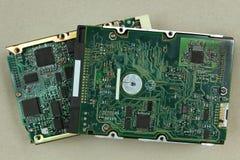 Placas de circuito del disco duro Imágenes de archivo libres de regalías