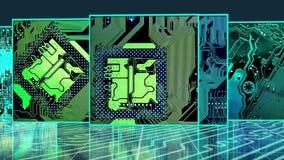 Placas de circuito del flujo de la cubierta ilustración del vector