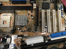 Placas de circuito dos computer's e mainboards não utilizados fotografia de stock
