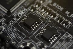 Placas de circuito electrónicas negras Foto de archivo