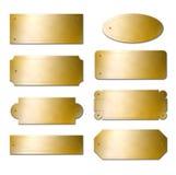 Placas de cobre amarillo Fotografía de archivo