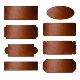 Placas de cobre amarillo oxidadas Imagen de archivo libre de regalías