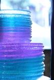 Placas de cristal Imagenes de archivo