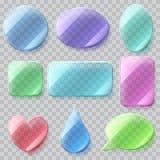 Placas de cristal transparentes Transparencia solamente en fichero del vector Fotos de archivo libres de regalías