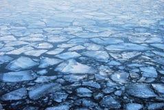 Placas de flutuação do gelo Fotos de Stock Royalty Free