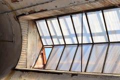 Placas de janela de vidro do vintage com vidro faltante Foto de Stock