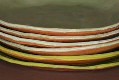 Placas de jantar orgânicas Foto de Stock Royalty Free