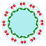 Placas de la decoración, frutas, bayas stock de ilustración