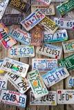 Placas de licença Fotos de Stock