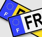 Placas de licença francesas Imagens de Stock Royalty Free