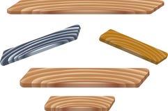Placas de madeira Foto de Stock