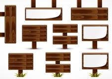 Placas de madeira Ilustração do Vetor