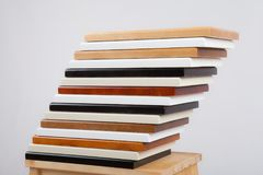 Placas de madeira de cores diferentes Imagens de Stock