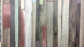 Placas de madeira, cores diferentes no estilo retro, placas velhas Fotografia de Stock Royalty Free