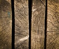 Placas de madeira do lado Imagens de Stock