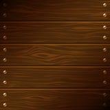 Placas de madeira escuras do vetor Fotografia de Stock