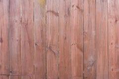 Placas de madeira marrons velhas com grão de madeira bonita Fotografia de Stock Royalty Free