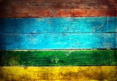 Placas de madeira pintadas grunge resistidas Imagem de Stock Royalty Free