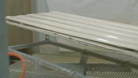 Placas de madeira de pintura para a fabricação da porta Processo de manufatura de madeira da porta produção de portas interiores filme