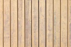 Placas de madeira velhas com pintura bege transversal Imagens de Stock