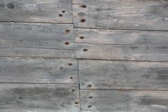 Placas de madeira velhas Textured do fundo Fotografia de Stock