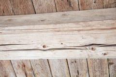 Placas de madeira velhas Textured do fundo Imagem de Stock Royalty Free
