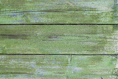 Placas de madeira verdes velhas fotografia de stock
