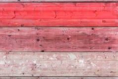 Placas de madeira vermelhas Foto de Stock