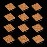Placas de madera determinadas de la muestra del mosaico de madera Fotos de archivo libres de regalías
