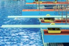 Placas de mergulho na associação do swimimg Imagens de Stock
